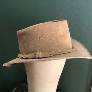 Genuine Leather Australian Bush Hat Size Large